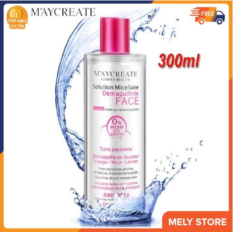 Nước tẩy trang MayCreate 300ml làm sạch lớp trang điểm, bụi bẩn còn xót lại trên da, giữ ẩm và thu nhỏ lỗ chân lông, nước tẩy trang dưỡng da, làm sáng da, trắng da SPU052 cao cấp