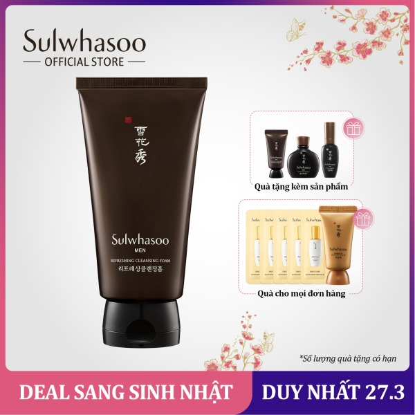 Sữa rửa mặt dành cho nam giới Sulwhasoo Refreshing Cleansing Foam 150ml