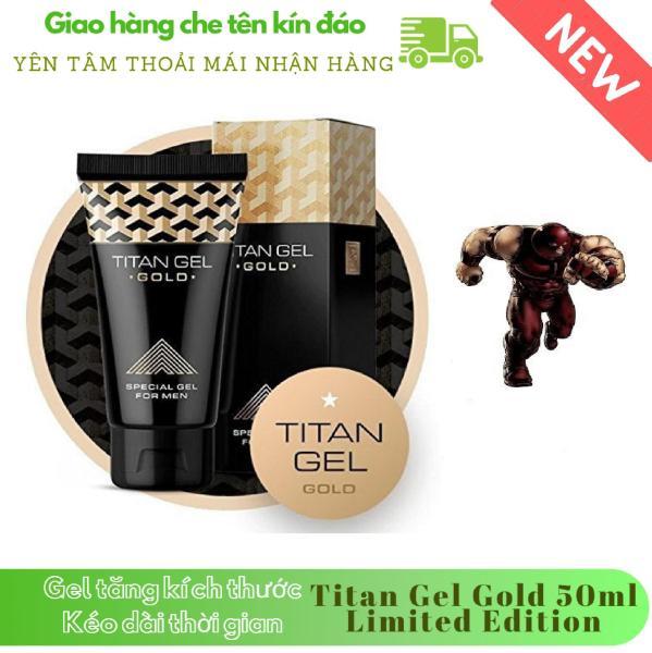 [ Lô mới nhất ] 1 hộp Gel-Titan-Nga Gold cao cấp phiên bản giới hạn (50ml) (Che tên khi giao hàng)