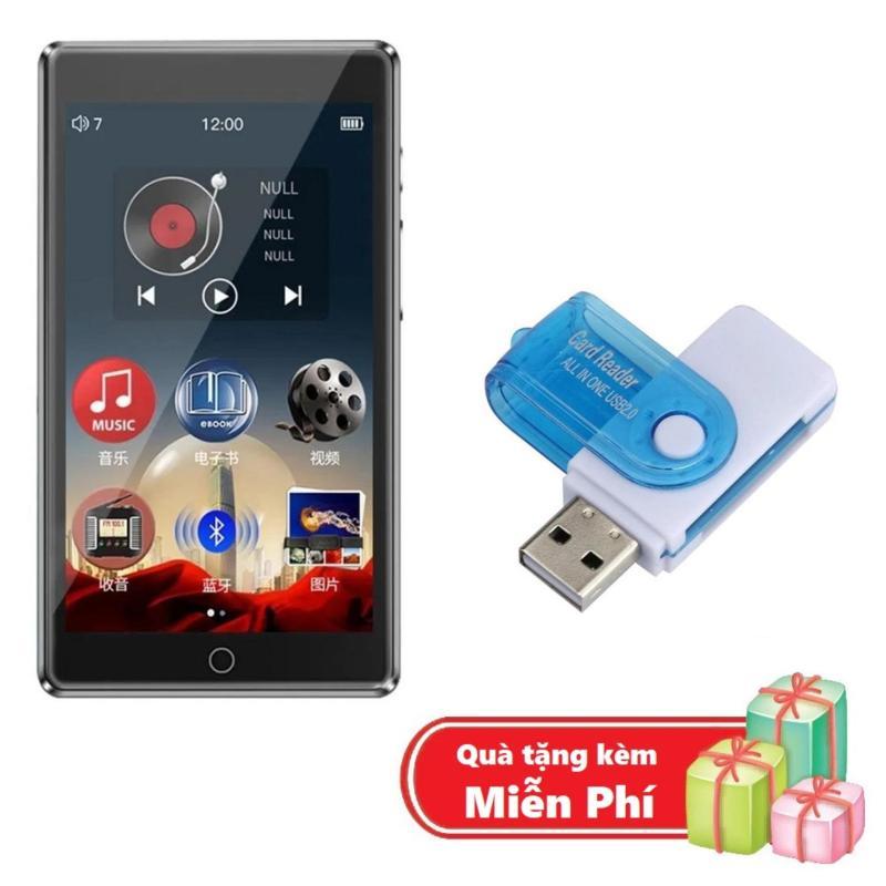 ( Quà tặng Đầu đọc thẻ nhớ đa năng ) Máy nghe nhạc MP3 RUIZU H1 Màn hình cảm ứng Kết nối Bluetooth Dung lượng 8GB Thu âm Nghe ebook - Máy nghe nhạc MP3/MP4 kết nối Bluetooth Ruizu H1 bộ nhớ trong 8GB