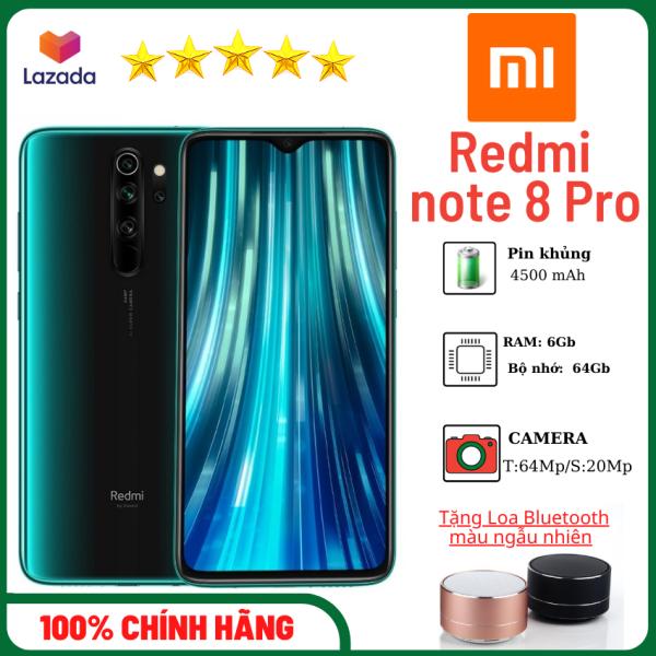 [Tặng loa bluetooth]Điện thoại Xiaomi Redmi Note 8 Pro (6GB/64GB)-Camera 64Mp-điện thoại pin trâu 4500 mAh-hàng chính hãng