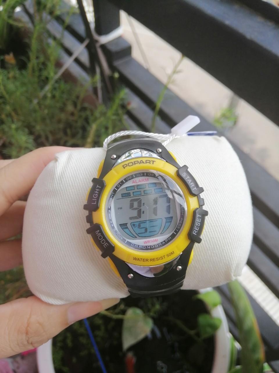 Đồng hồ trẻ em mhpo85 popart pop-386 chống nước tuyệt đối - đèn 7 màu cực đẹp bán chạy