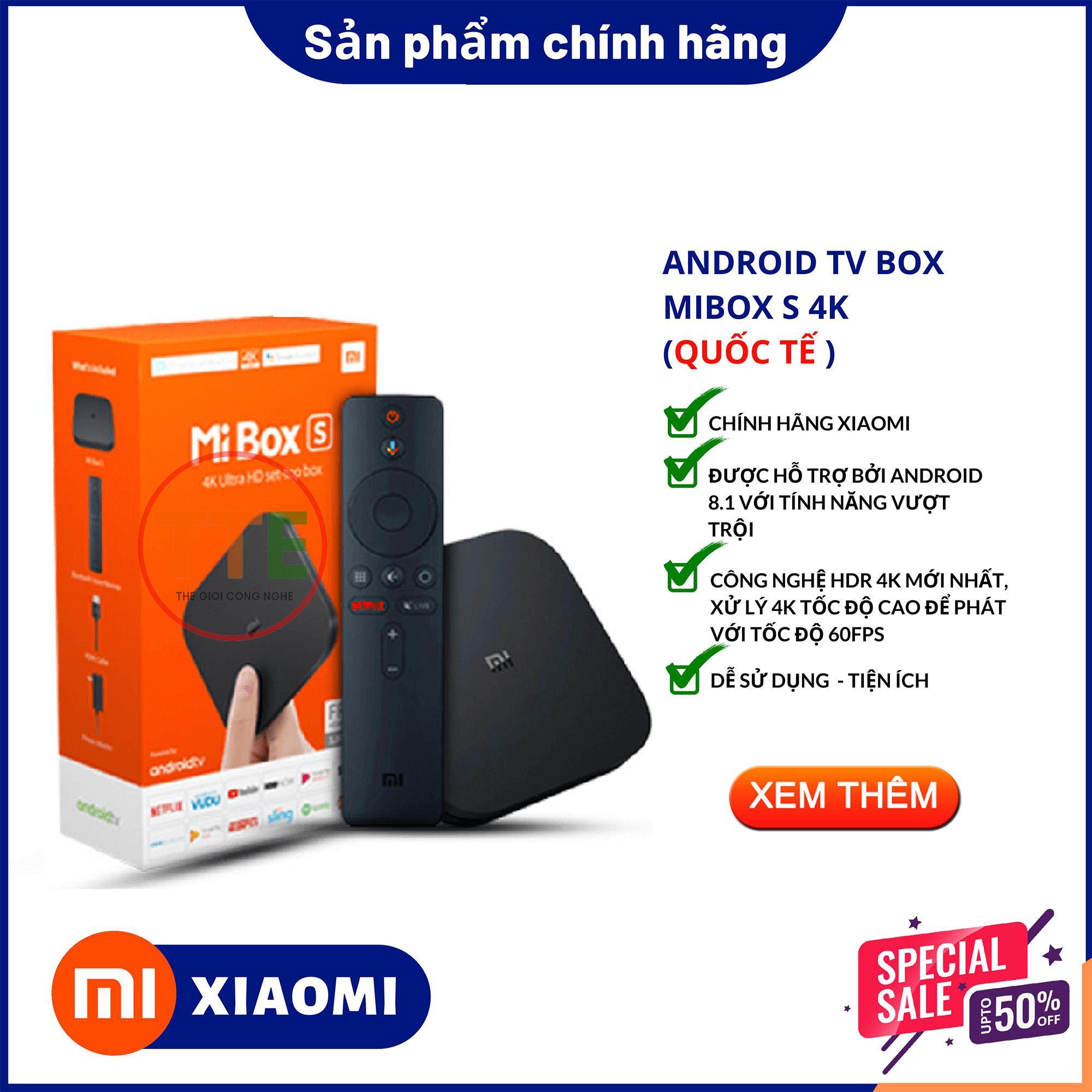 Bảng giá Android Tivi Box Xiaomi Mibox S 4K Global Quốc Tế -  Full Tiếng Việt