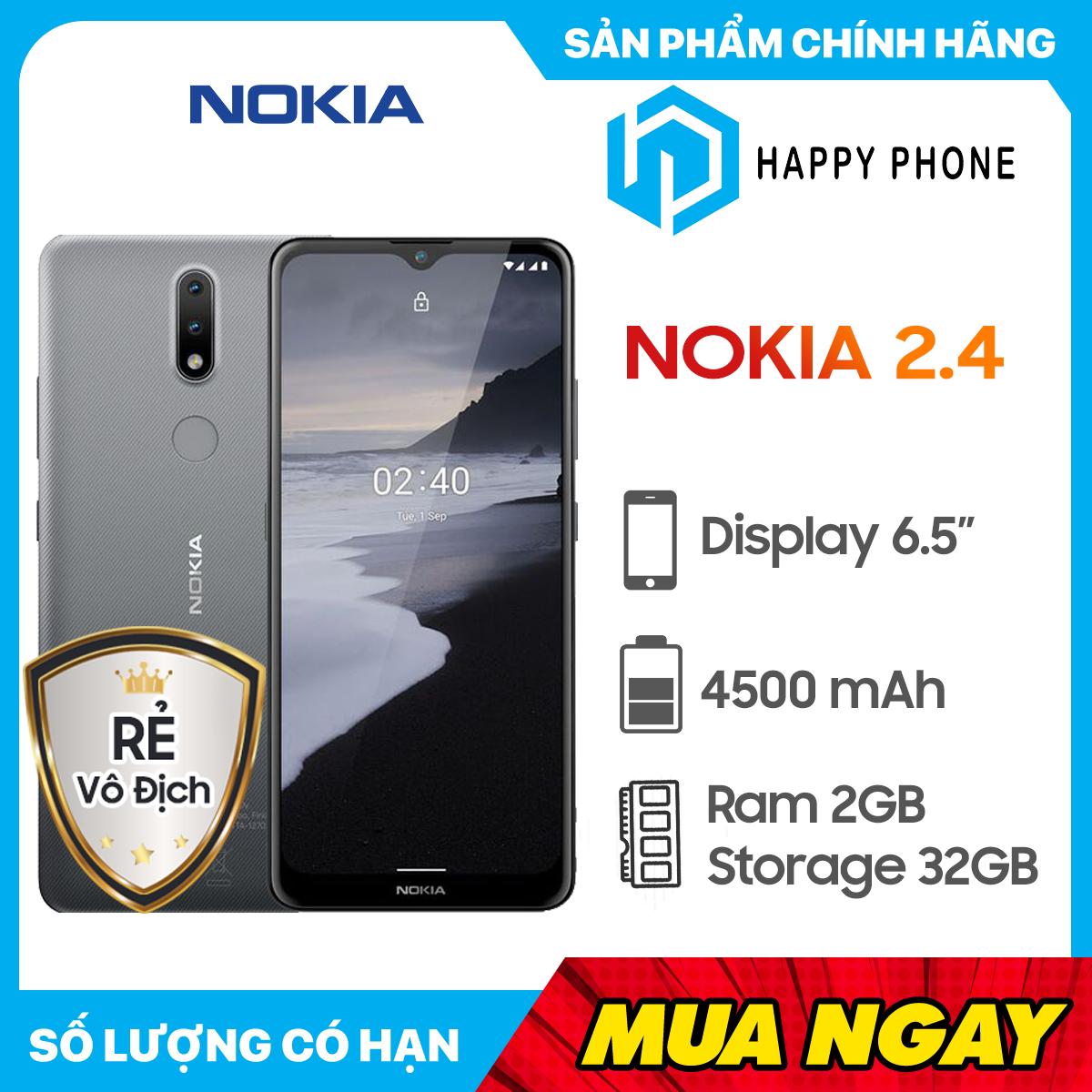 Điện Thoại Nokia 2.4 (16GB/2GB) - Hàng chính hãng, Nguyên...