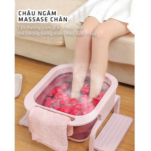 [CAO CẤP] Chậu ngâm chân thư giãn, gấp gọn, Chậu ngâm chân massage gấp gọn hàng cao cấp, Bồn ngâm chân nhập khẩu