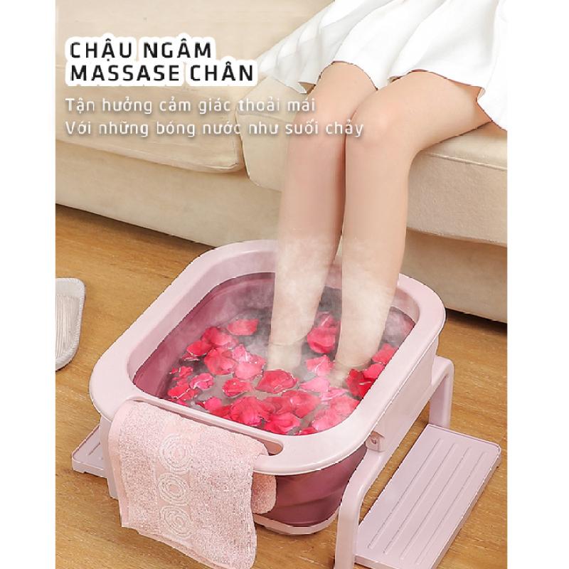 Chậu Ngâm Chân Massage Gấp Gọn Đa Năng, Bồn ngâm chân cao Cấp