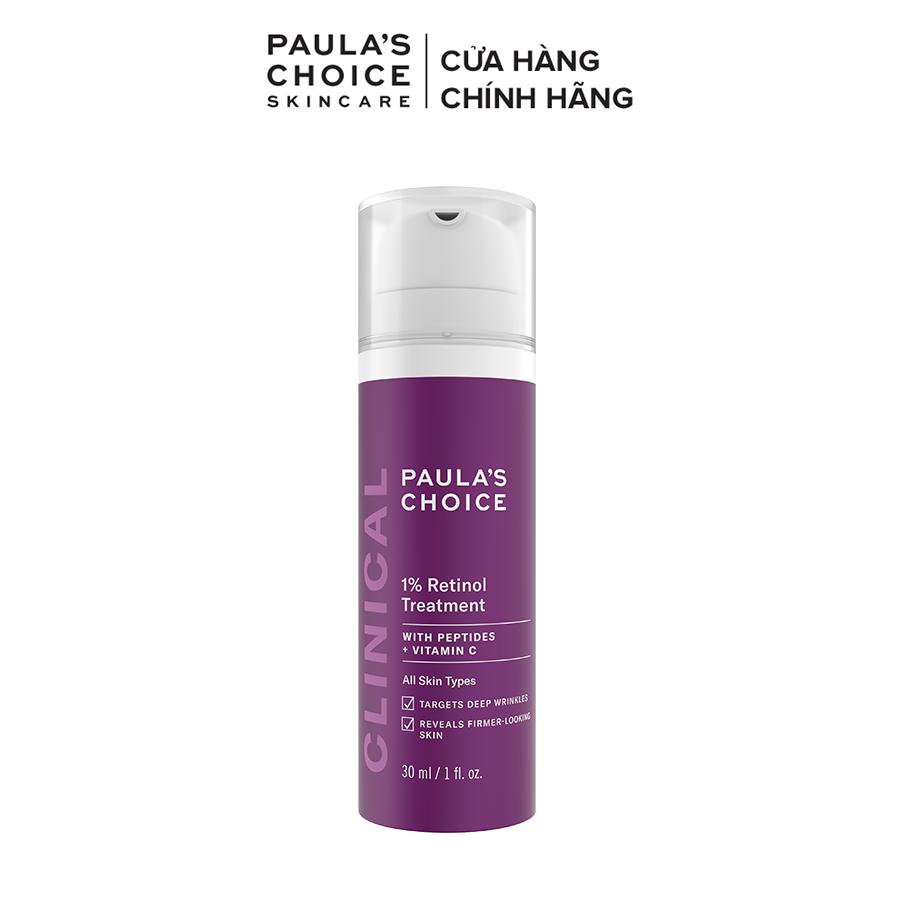 Tinh chất làm mờ nám và nếp nhăn Paula's Choice Clinical 1% Retinol Treatment 30 ml