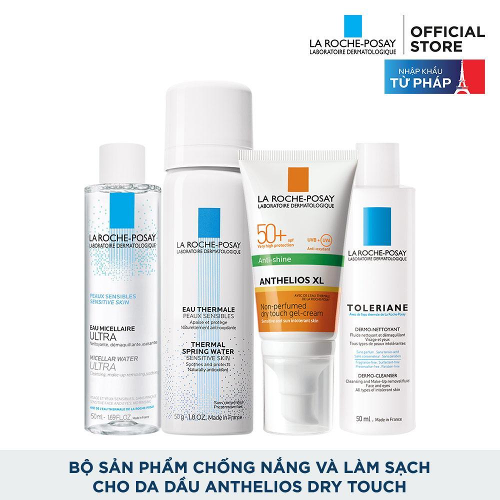 Offer tại Lazada cho Bộ Sản Phẩm Chống Nắng Và Làm Sạch Cho Da Dầu La Roche-Posay Anthelios Dry Touch