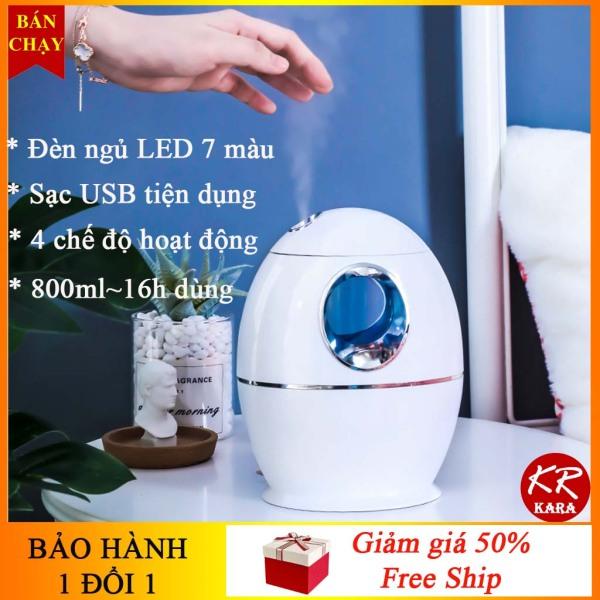 [BH 1 đổi 1] Máy phun sương tạo độ ẩm KR 251- 4 chế độ, 800 ml, Sạc USB, Đèn ngủ LED- Máy phun sương mini, máy phun sương tạo ẩm, máy phun sương tinh dầu- KARA 251