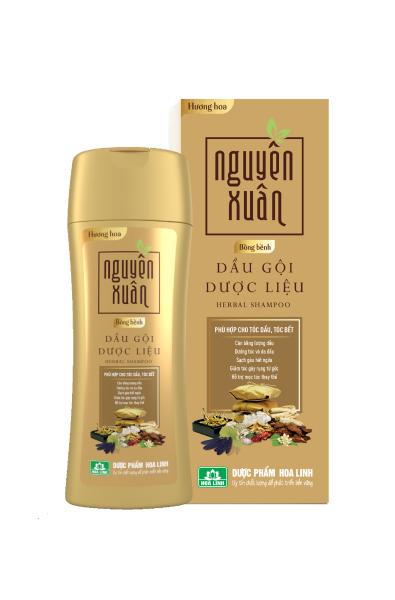 Dầu gội dược liệu Nguyên Xuân Bồng bềnh 200ml - Ngát hương hoa, phù hợp cho da đầu dầu giá rẻ