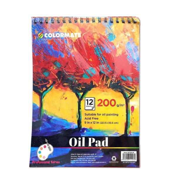 Mua Tập Giấy Vẽ Màu Dầu Định Lượng 200GMS 12 Tờ