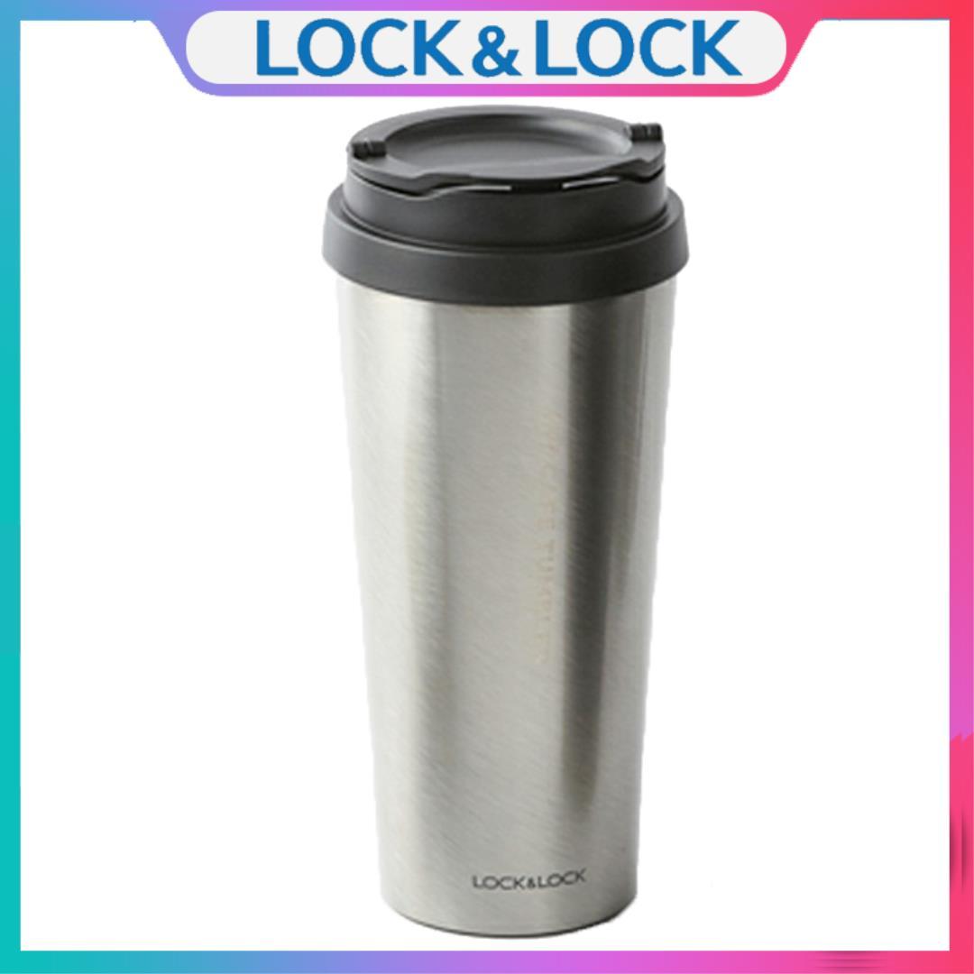 Ly Giữ Nhiệt Lock&Lock Clip Tumbler Bằng Thép Không Gỉ Inox304 LHC4151 (540ml) - Kèm Ống Hút Nhựa Với Giá Sốc