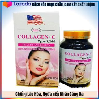 Viên Uống Đẹp Da Collagen +C Type 123 Ngừa Nếp Nhăn, Chống Lão Hóa - Hộp 60 viên - (60NcTl hồng) thumbnail