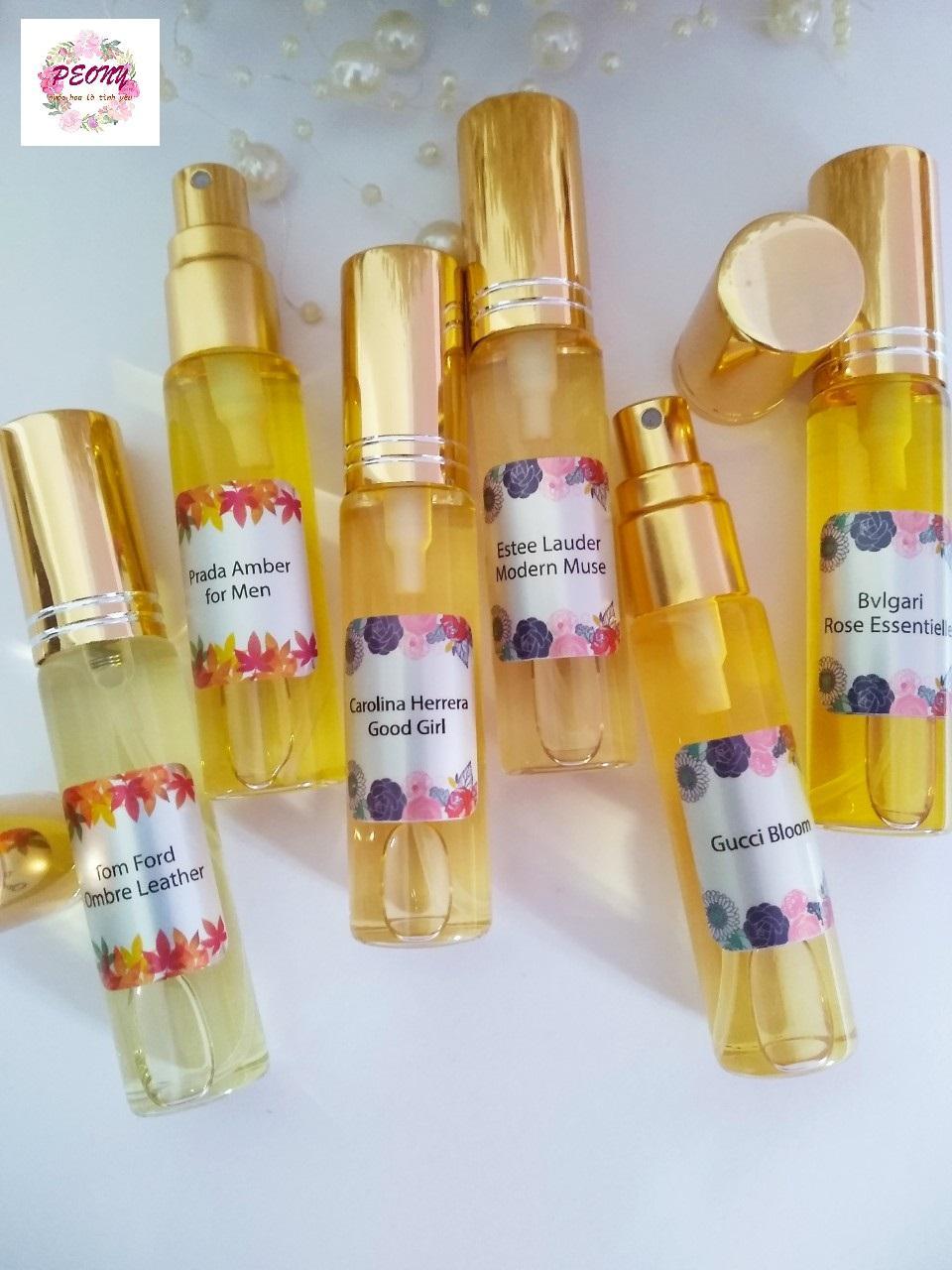 [6 chai xịt mùi tự chọn] Tinh dầu nước hoa Pháp - sỉ lẻ tinh dầu nước hoa, tinh dầu nước hoa mini nam nữ dạng xịt - peonyladyshop chính hãng