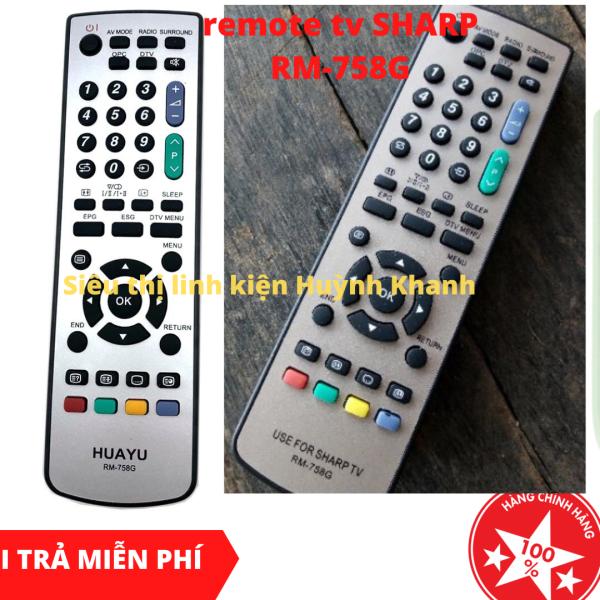 Bảng giá REMOTE TV SHARP RM-758G BỀN ĐẸP CHÍNH HÃNG