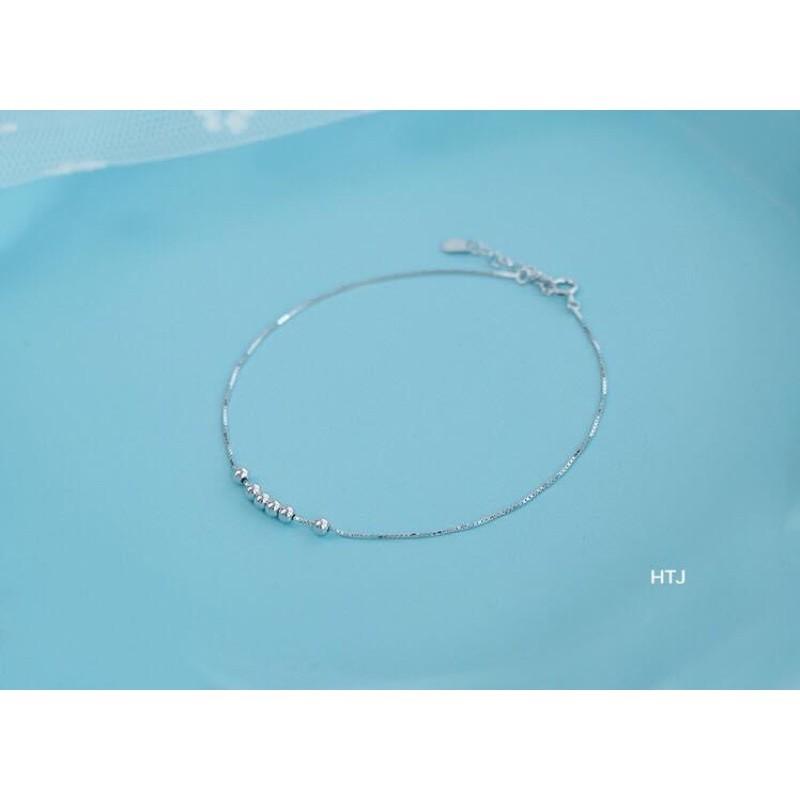 LẮC CHÂN LẮC TAY BẠC TA GẮN BI XINH XẮN - Chuyên sỉ trang sức bạc, cam kết giá tốt kèm bảo hành