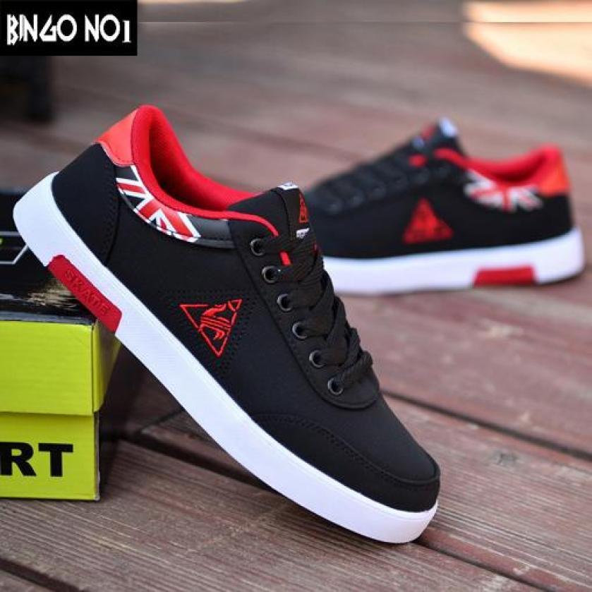 Giày Sneaker Nam Hàn Quốc Họa Tiết Cực Chất - Thời Trang BINGO (GHR02) - Giá Cực Sốc giá rẻ