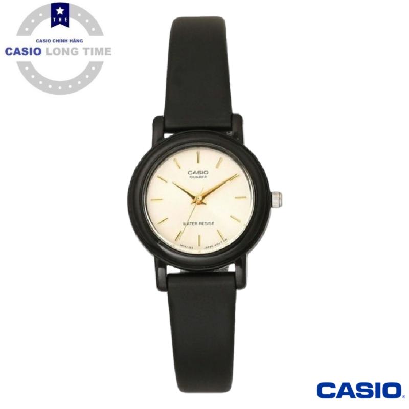 [Ủy Quyền Bởi Casio Anh Khuê]Đồng Hồ Nữ Casio LQ-139EMV-9ALDF Dây Nhựa Màu Đen - Nền Mặt Mạ Vàng