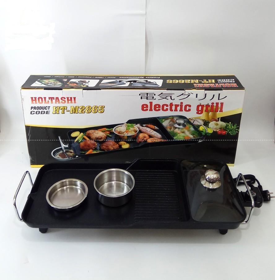 Bếp lẩu nướng vỉ lẩu nướng điện Holtashi HT M2865 Nhật Bản(BH 24 tháng)