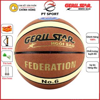 Bóng rổ GERU STAR Federation số 6 hàng CHÍNH HÃNG - Banh bóng rổ thi đấu chính thức Liên Đoàn Bóng Rổ Việt Nam thumbnail