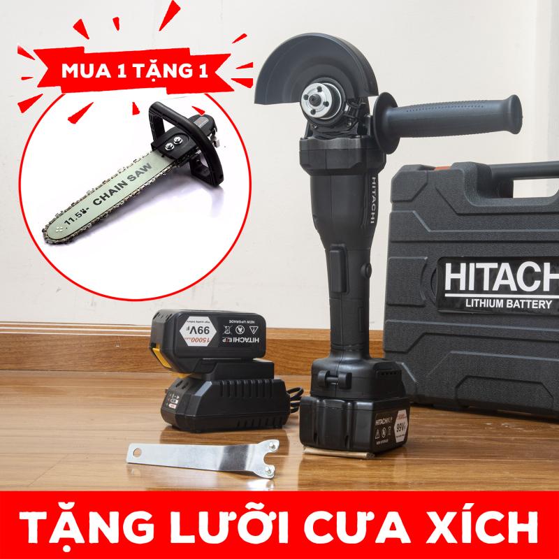Máy mài pin HITACHI 118Vf - TẶNG LƯỠI CƯA XÍCH - máy mài pin - máy mài góc dùng pin - máy cắt cầm tay - máy căt pin - máy đánh bóng - máy mài góc - máy mài - máy cưa - máy cắt cây - máy cưa giá rẻ - máy cưa cầm tay - máy cưa xích