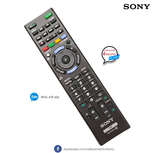 Bảng giá Điều khiển tivi Sony Bravia RM-ED047 chính hãng