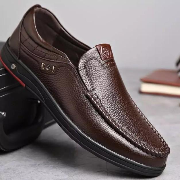 Giày lười nam da bò đẳng cấp giá rẻ