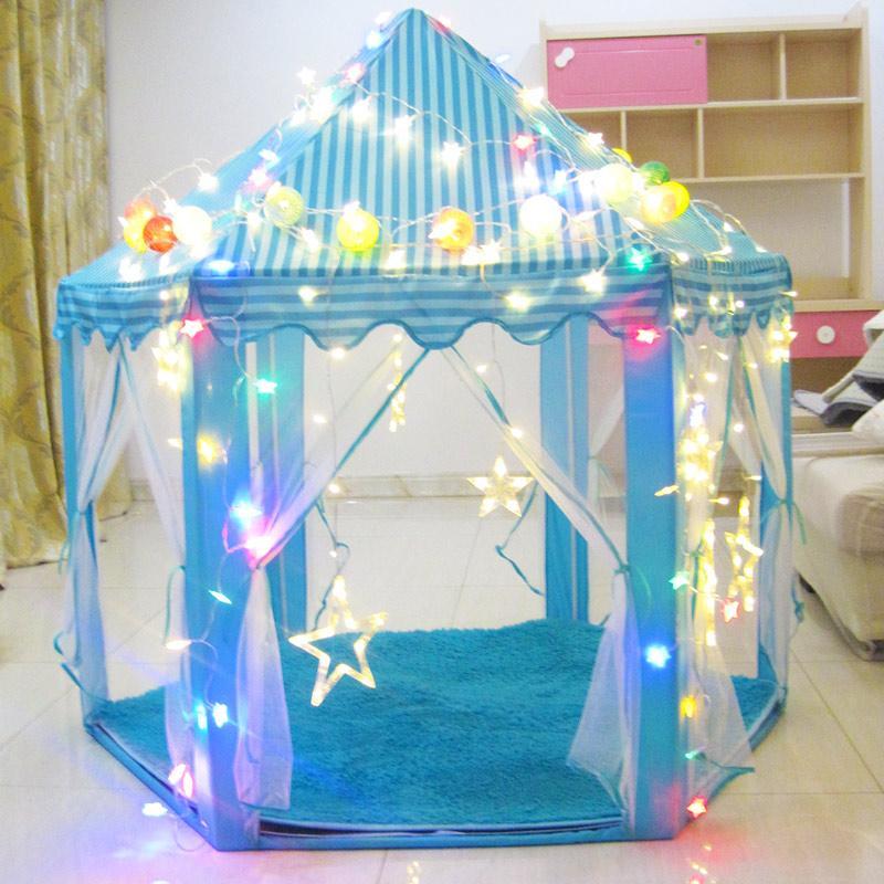 Lều Công Chúa [ KÈM ĐÈN LED] - Lều Bóng Công Chúa - Lều Ngủ Công Chúa Kích Thước 100x100x135 Cm Đang Hạ Giá tại Lazada