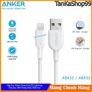 Cáp Sạc Anker PowerLine II Lightning, Chip C89 Chuẩn MFi Cho iPhone, A8432 A8433 thumbnail