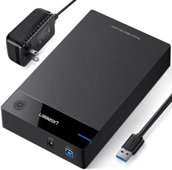 Bảng giá Vỏ hộp đựng ổ cứng 3.5/2.5 inch SATA/USB 3.0 hỗ trợ 10TB dài 30-50cm UGREEN US222 -  Hãng phân phối chính thức Phong Vũ