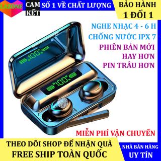Tai nghe bluetooth Amoi F9 -5, Phiên bản tai nghe không dây nâng cấp của tai nghe F9, công nghệ cảm ứng, mở nắp tự kết nối, chống nước, chống ồn, âm thanh HD, kén sạc 2000 mAh kiêm sạc dự phòng thumbnail