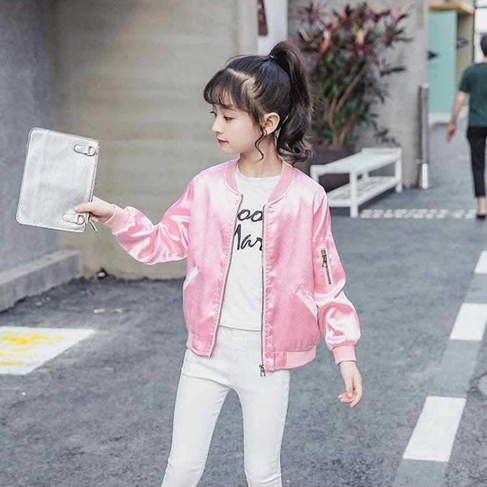 Giá bán Áo khoác bomber dây kéo vải dù sành điệu cho bé gái