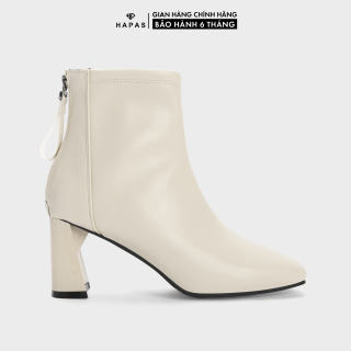 Giày Bốt Nữ Boot Da Mịn Gót Mảnh 7phân HAPAS - BOT735