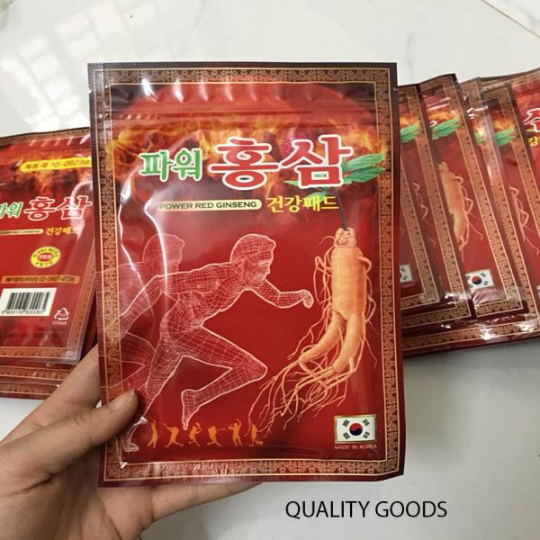 [XẢ SỐC 3 NGÀY] Combo 5 gói cao dán hồng sâm giảm đau 20 miếng/gói - POWER RED GINGSENG - Quality Goods giá rẻ