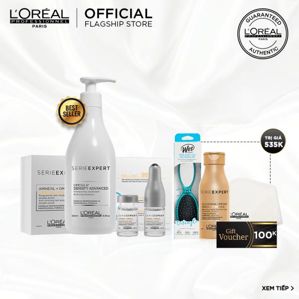 [Tặng lược WetBrush 320K] Liệu trình chăm sóc tóc mỏng và ngừa rụng tóc LOréal Professionnel nhập khẩu