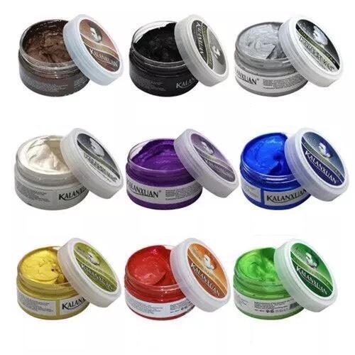 sáp vuốt tóc nam tạo màu cá tính đầy đủ 9 màu lựa chọn tiện lợi khi dùng (xám khói, bạch kim, đỏ, tím, hạt dẻ, vàng, xanh lá cây, xanh dương, đen)