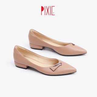 Giày Búp Bê Mũi Nhọn Gắn Khoá Pixie X694