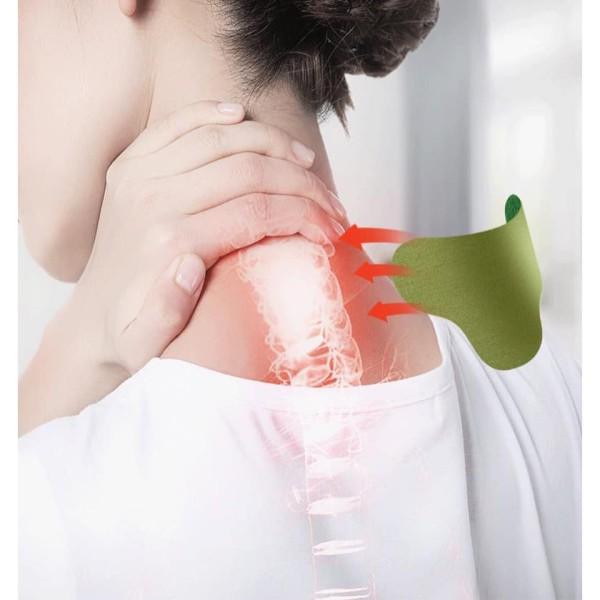 Hộp 12 miếng dán ngải cứu giảm đau cổ vai gáy, giảm nhanh các triệu chứng đau khớp gối, đau lưng, đau đầu cao cấp