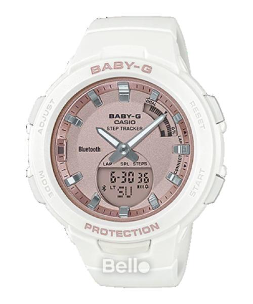 Đồng hồ Casio Baby-G NữBSA-B100MF-7A chính hãng chống va đập, chống nước 100m - Bảo hành 5 năm - Pin trọn đời