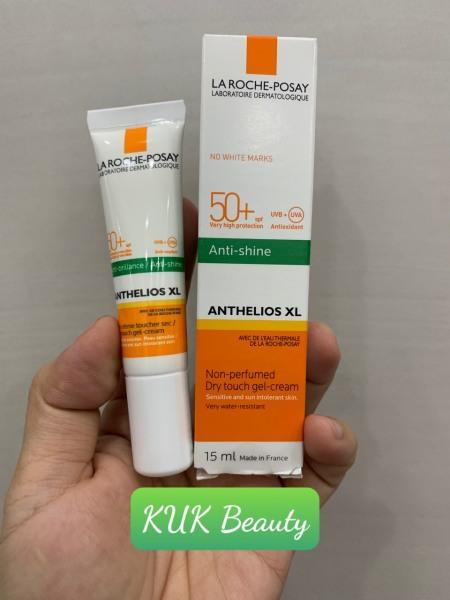 Kem chống nắng không màu kiểm soát dầu La Roche-Posay Anthelios XL Dry Touch Gel-Cream SPF 50+ UVB & UVA 15ml