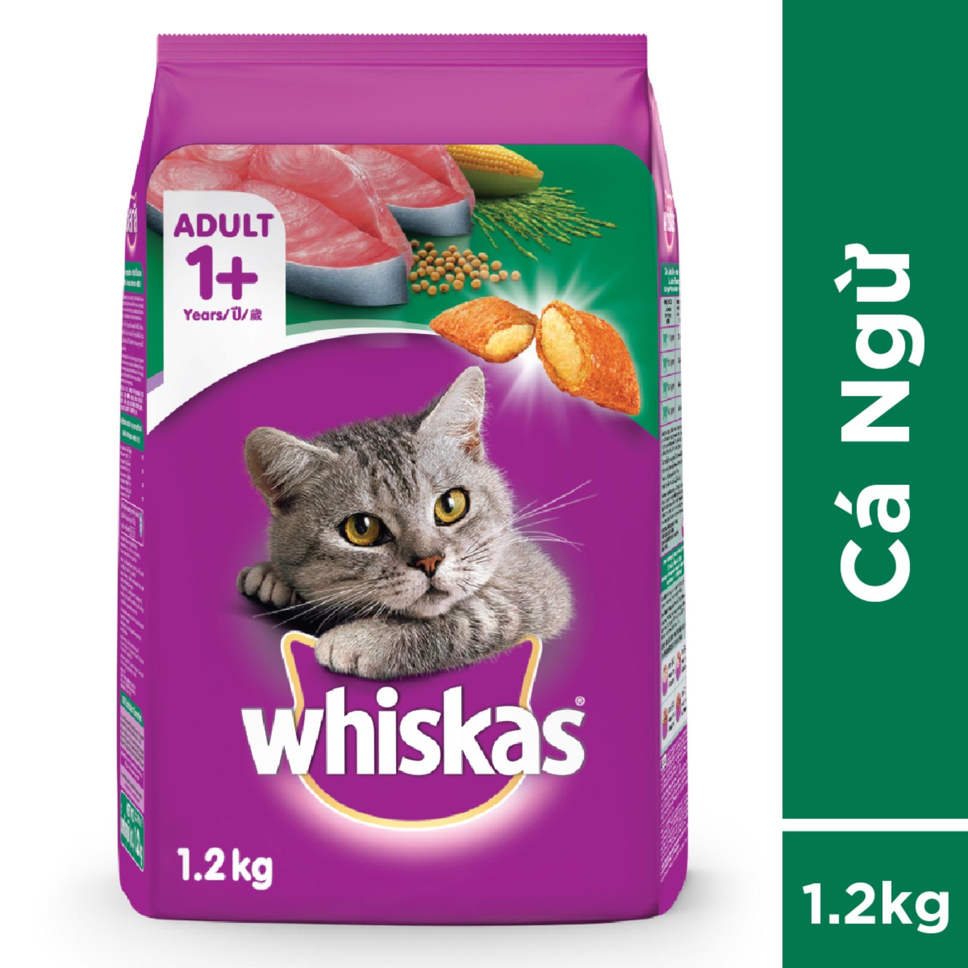 Thức ăn Mèo Whiskas Vị Cá Ngừ Túi 1.2kg Giá Tốt Không Nên Bỏ Lỡ