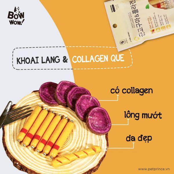 Xúc xích khoai lang và collagen cho chó