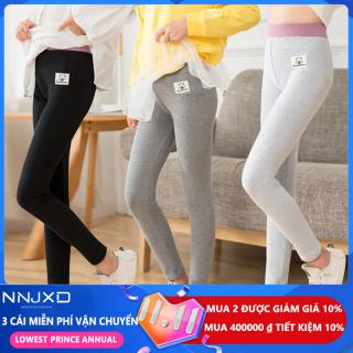 NNJXD Quần áo trẻ em Xà cạp Quần áo mùa thu cho bé gái Quần skinny cotton mềm mại cho trẻ em Quần bút chì đàn hồi Quần dài cho 4-10 năm thumbnail