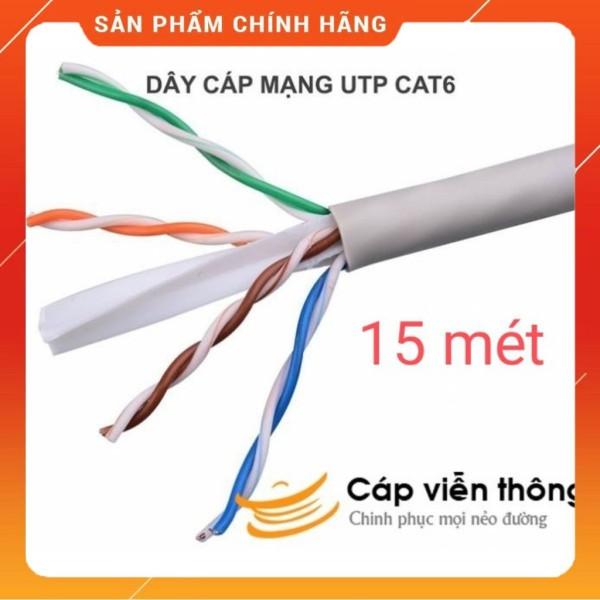 Bảng giá Dây Cáp Mạng Cat 6 Ensoho bấm sẵn 2 đầu dài 15 mét Phong Vũ