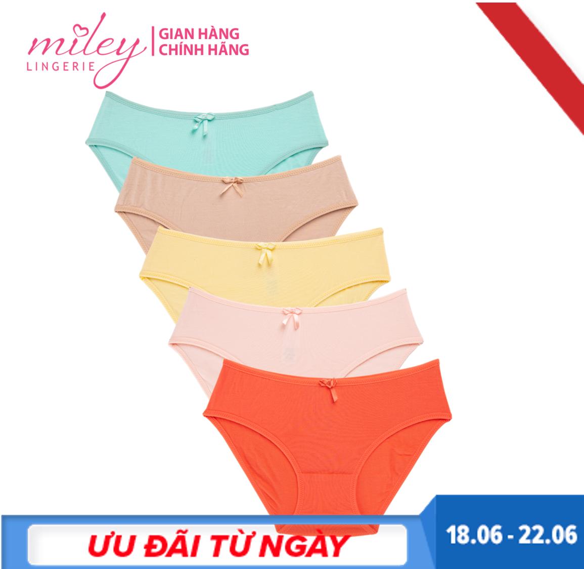 Combo 5 Quần Lót Nữ Basic Comfort Modal MILEY LINGERIE -  Màu Ngẫu Nhiên Duy Nhất Khuyến Mại Hôm Nay