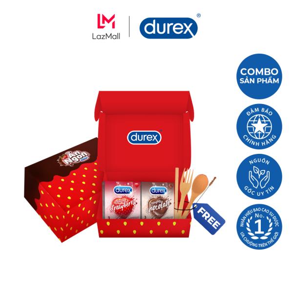 [VOUCHER 20K + VOUCHER 17K MOMO]Bộ sản phẩm Durex – Ăn ngon trọn vị (4 hộp bao cao su 3 bao/hộp + bộ muỗng nĩa)