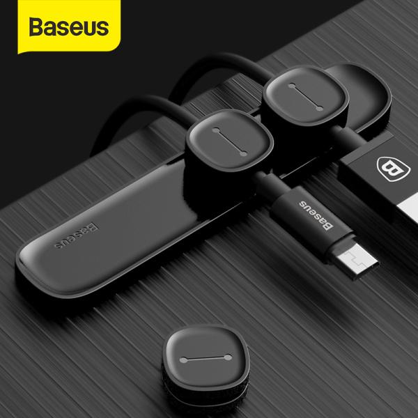 Bảng giá Baseus Dây tổ chức quản lý gọn gàng cáp USB Winder Clip Máy tính để bàn Máy tính dây Dây bảo vệ dây cáp cho iPhone Phong Vũ