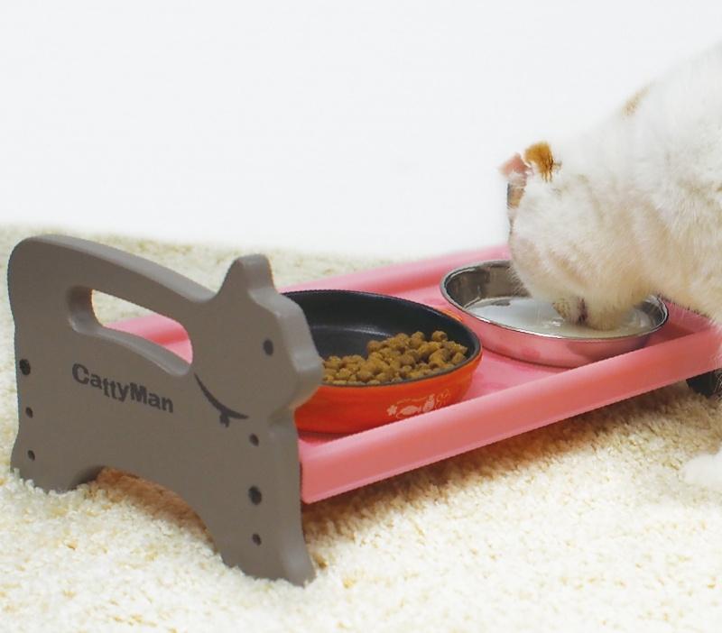 Bàn ăn khay nhựa cho mèo CatyMan - 93379