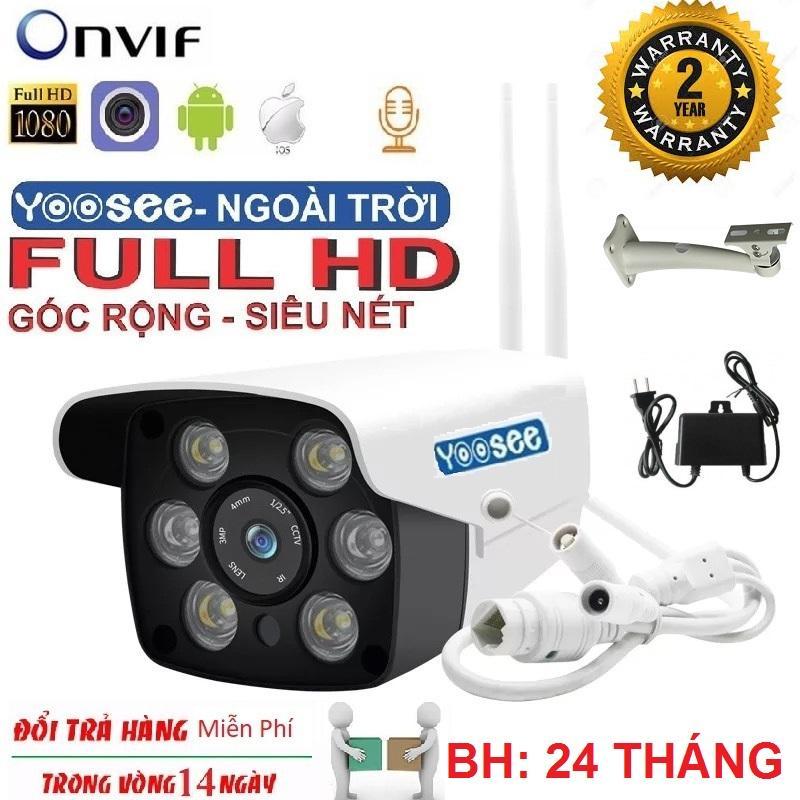 (BẢO HÀNH 24 THÁNG) Smart Camera  Wifi Yoosee 2.4 Mpx FullHd 1920 x 1080p XEM ĐÊM CÓ MÀU , Camera ZQ26 sử dụng trong nhà-ngoài trờichống nước cực tốt ghi âm đàm thoại 2 chiều lưu trữ video tối đa tới 15 tháng với thẻ