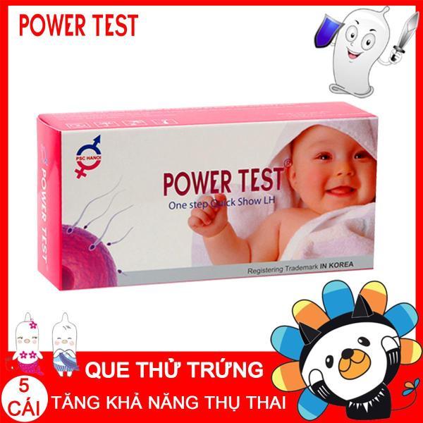 Hộp 5 que thử rụng trứng Powertest +TẶNG 1 que thử thai nhanh - Dụng cụ phát hiện ngày rụng trứng An toàn, Nhanh chóng, Đơn giản và Chuẩn xác